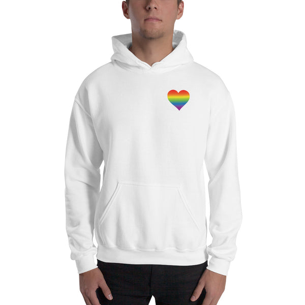 Rainbow Heart Hooded Sweatshirt