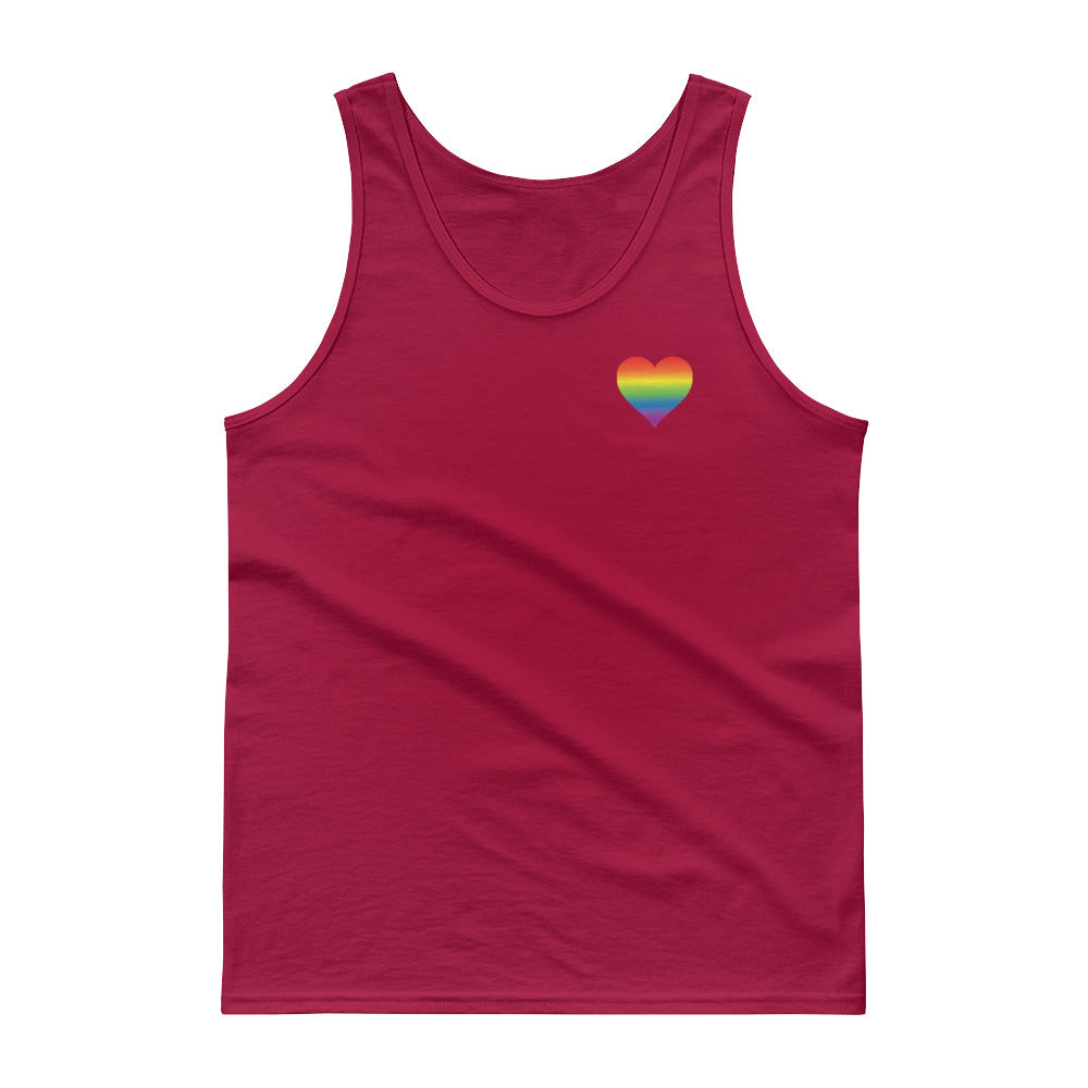 Rainbow Heart Tank Top