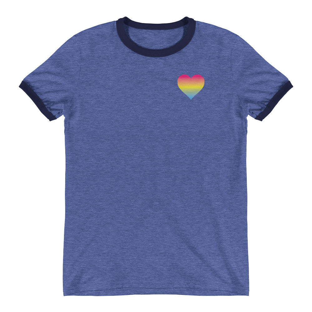 Pansexual Heart Ringer T-Shirt
