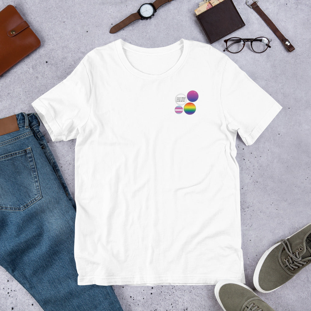 Ally Pride Button T-Shirt