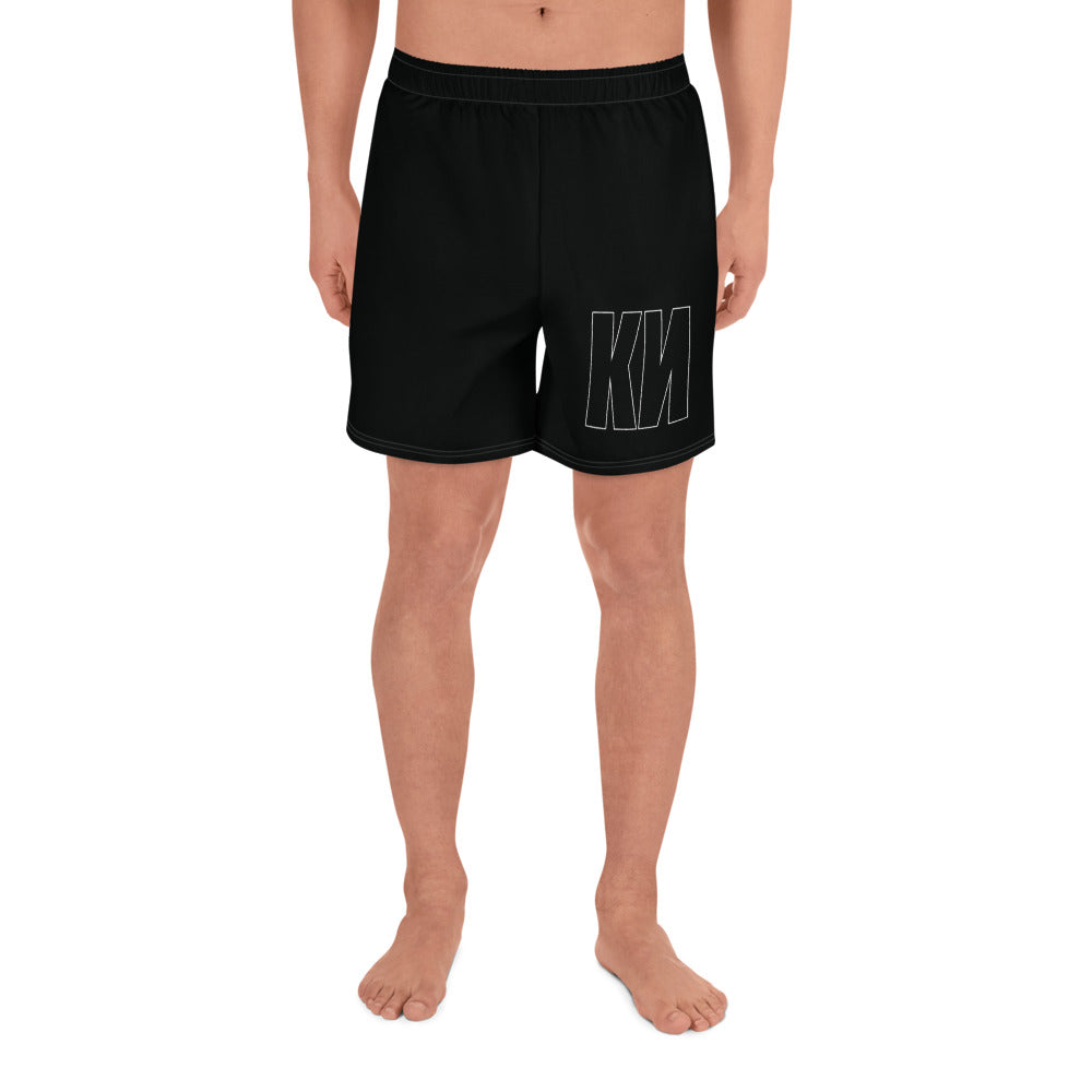 KN All-Over Print Men's Athletic Long Shorts