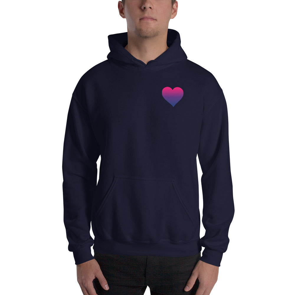 Bisexual Heart Hooded Sweatshirt