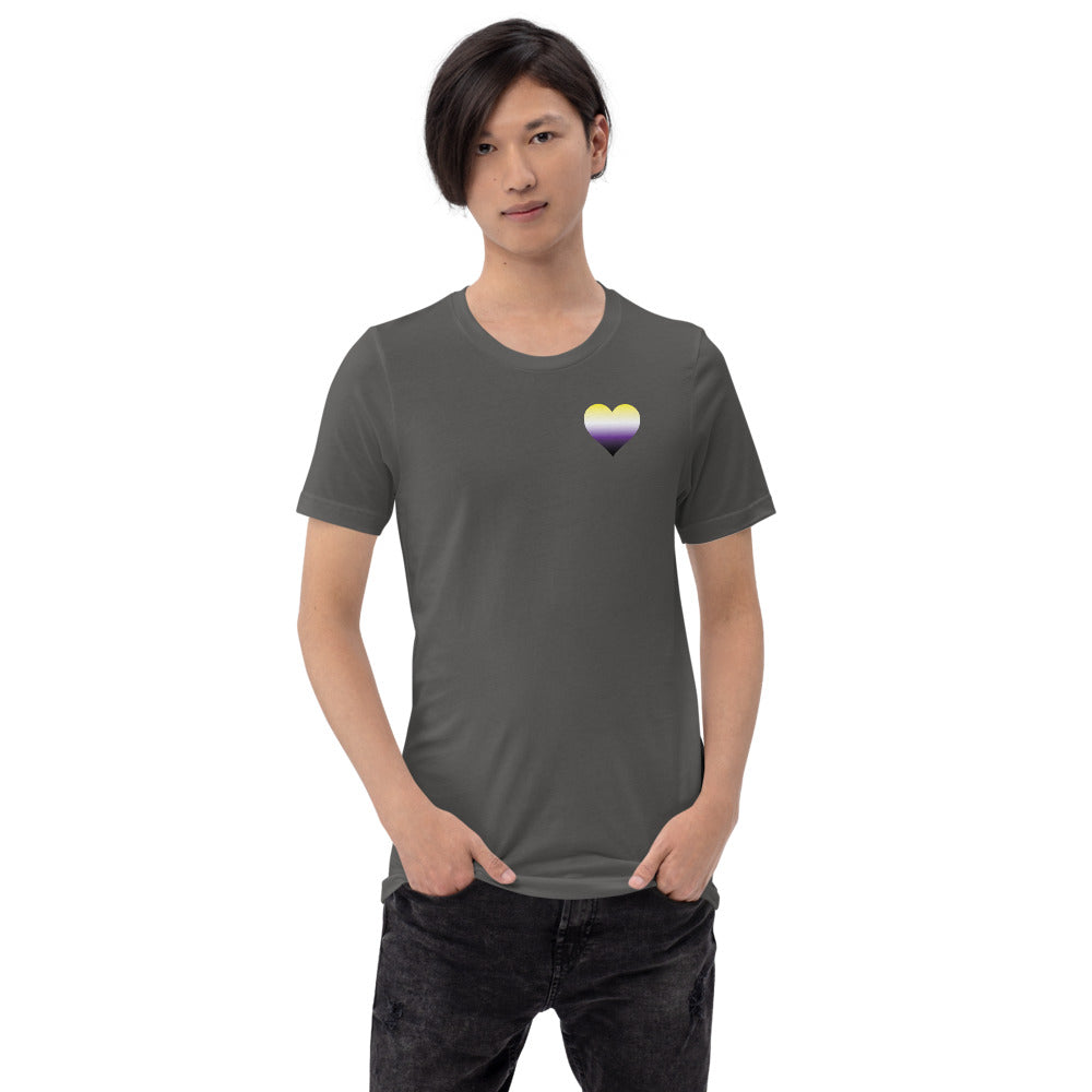 Non-binary Heart Short-Sleeve Unisex T-Shirt