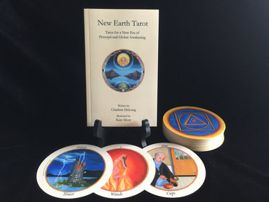 Author Signed, New Earth Tarot DECK & BOOK SET; Limited 1st Edition, Collectable