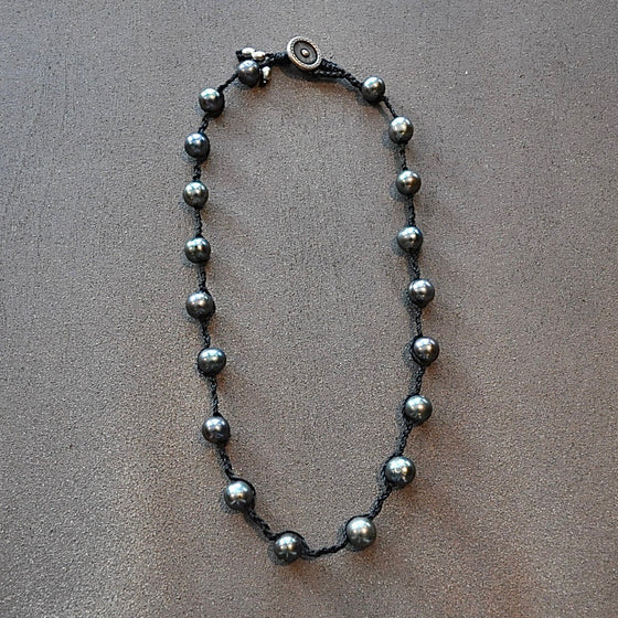Black Freshwater Pearl Necklace