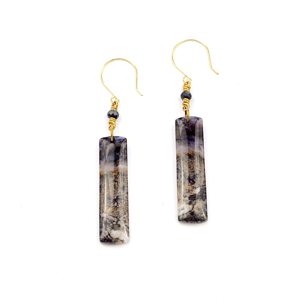 Amethyst Sage Chalcedony Earrings
