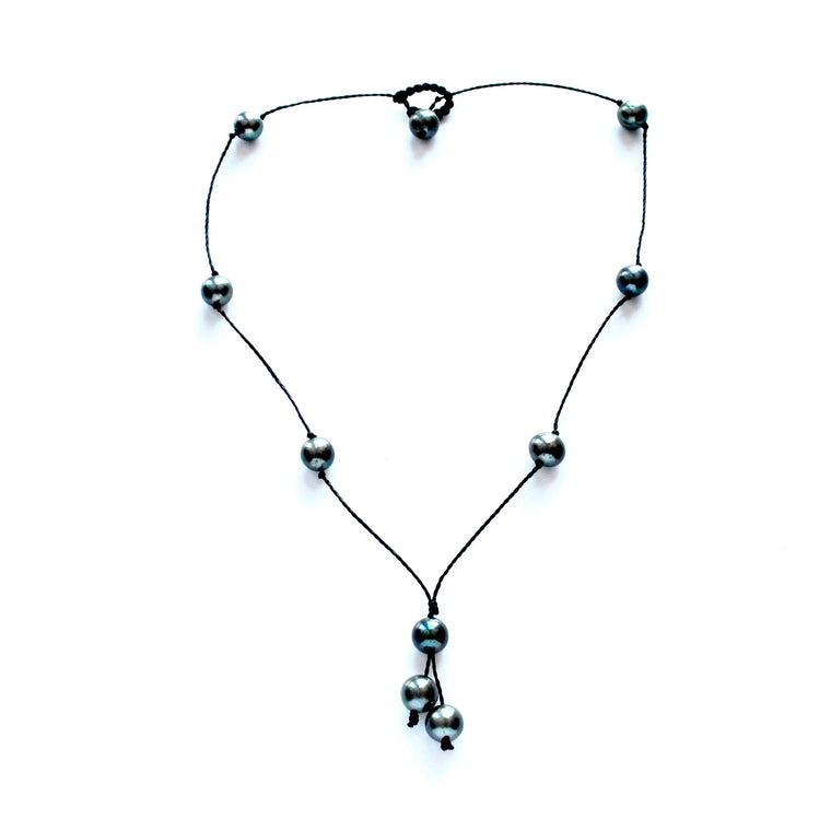 Drop Black Pearl Necklace