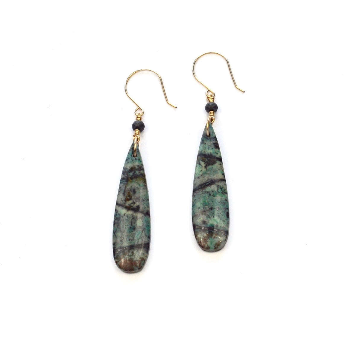 Ruby Fuchsite Earrings