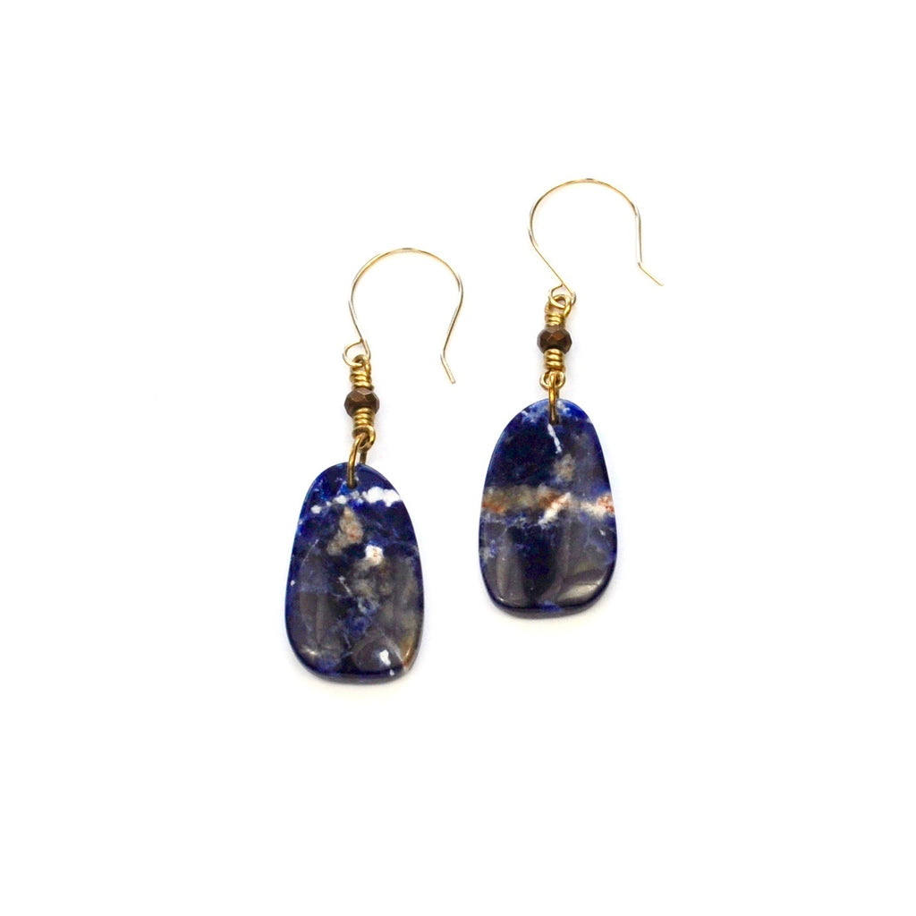 Orange Sodalite Earrings