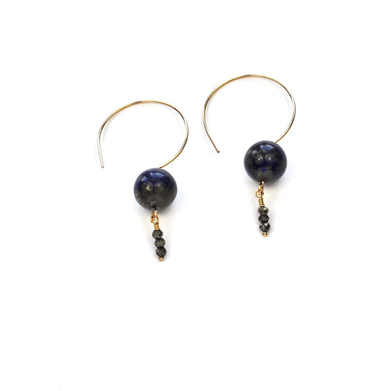 Lapis Lazuli and Hematite Earrings