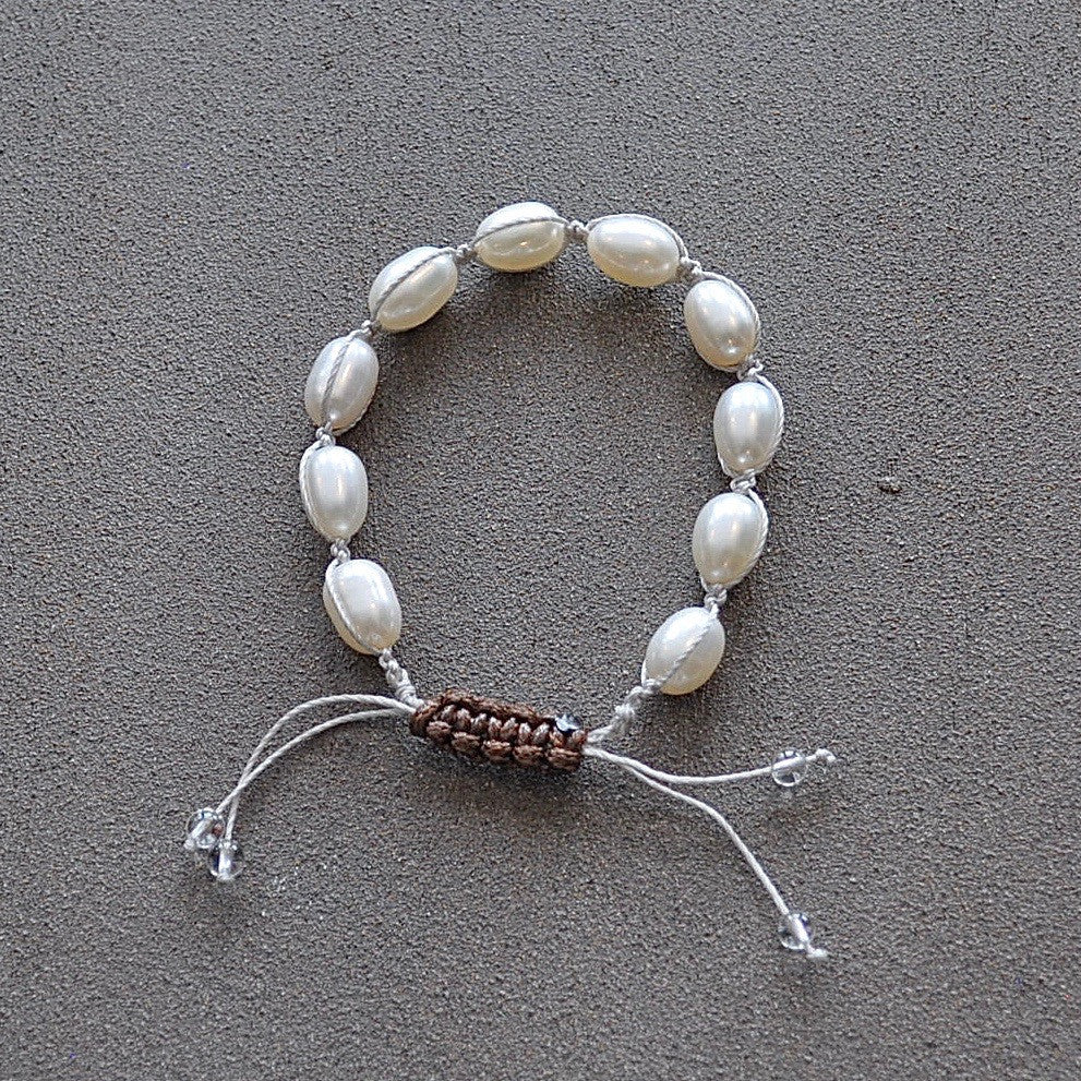 Freshwater Pearls with Grey Cord