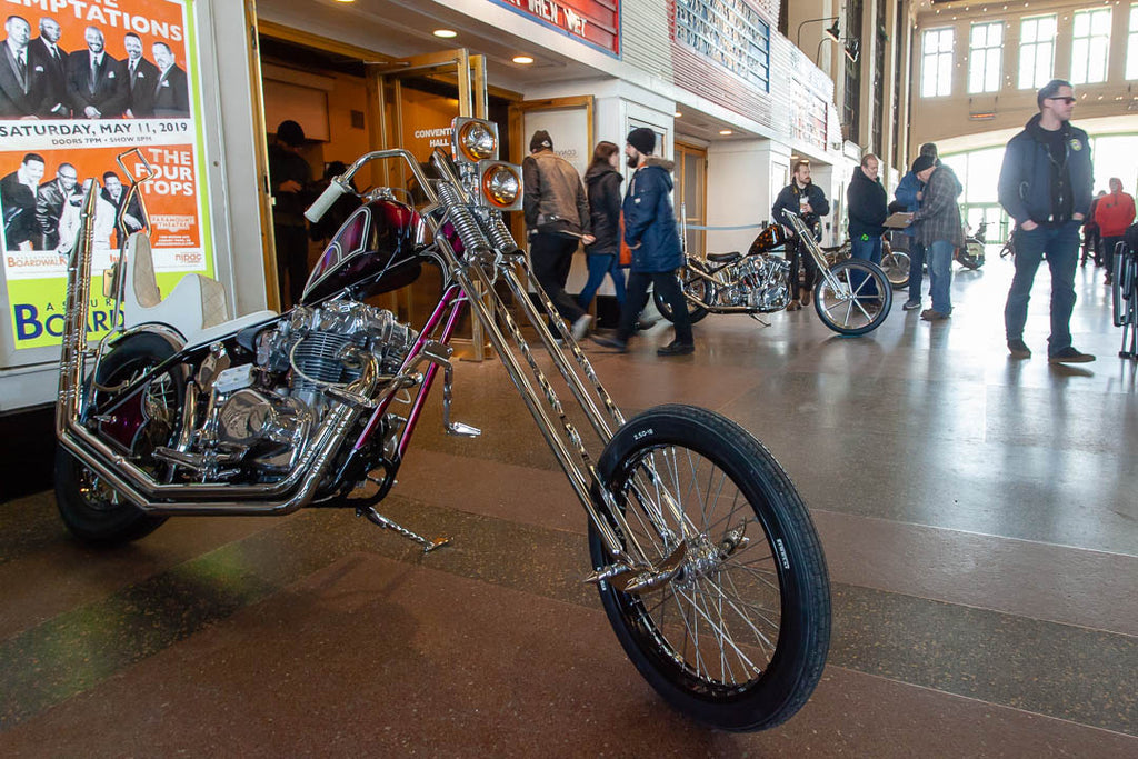 Chopper at Cheap Thrills Motorcycle Show