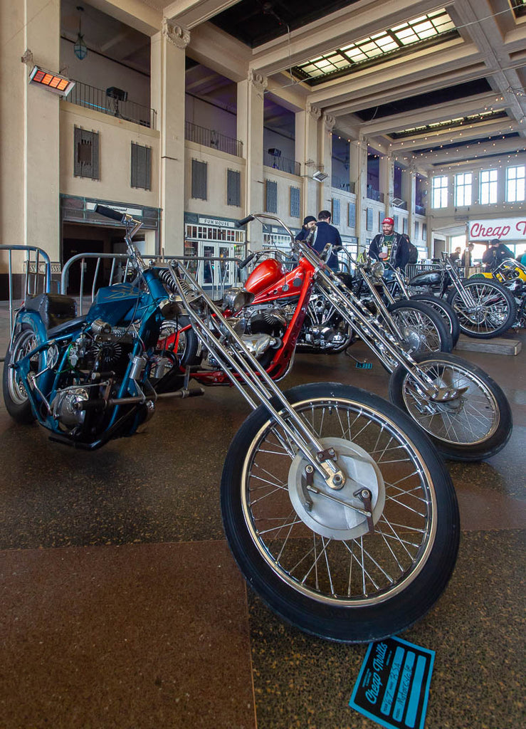 Chopper motorcycles at Cheap Thrills motorcycle show