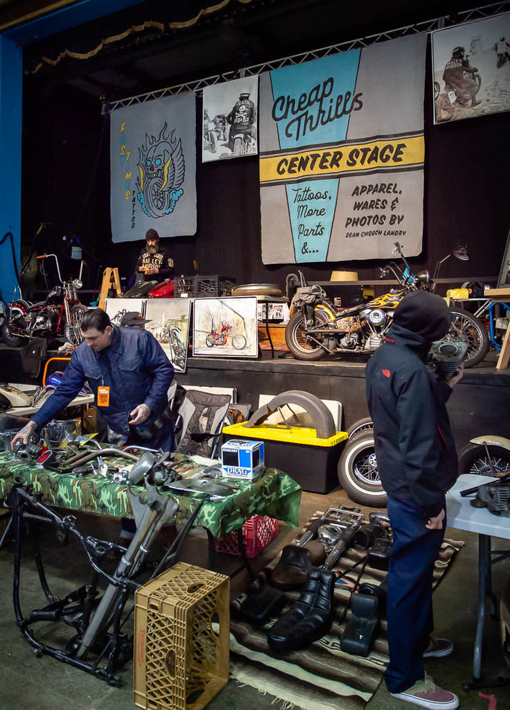 Center stage at cheap thrills motorcycle show