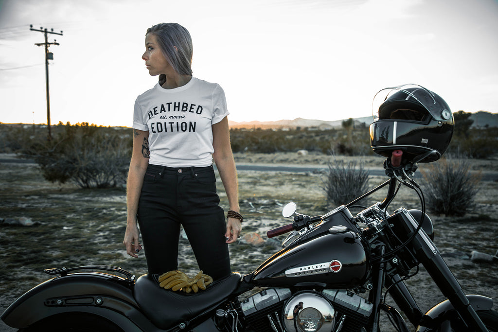 EL3 Productions for Deathbed Edition with Harley Davidson motorcycle