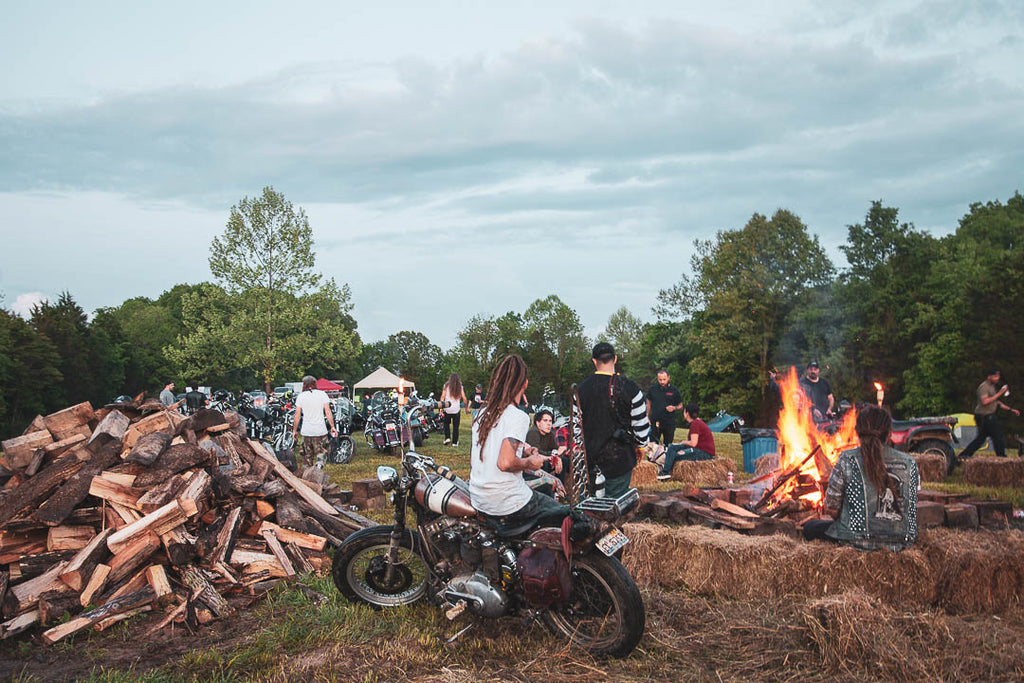 Greasy Dozen Run 2018 bonfire at camp for www.deathbededition.com blog