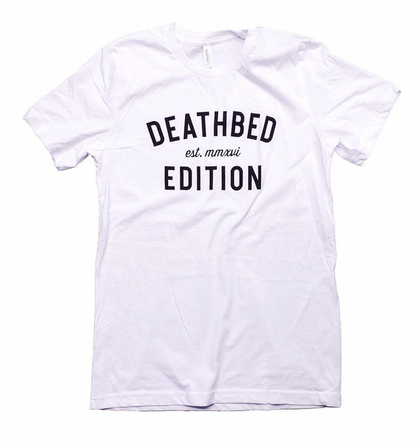 Deathbed Edition classic logo white t-shirt