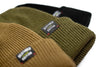 Deathbed Edition Acrylic Beanie Collection, Coyote Brown, Olive Green, Black