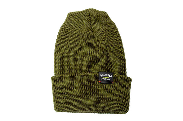 Deathbed Edition Acrylic Beanie , Olive Green