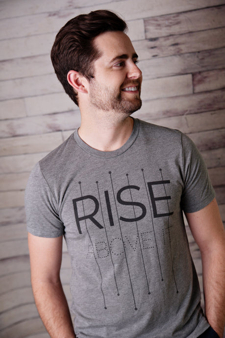 Rise Above It - Unisex Tri-Blend T-Shirt