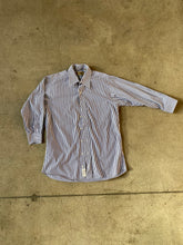 Quarter Sleeve Pin Stripe Button Up - Silverlake,  - Vinatge, Silverlake Market - Designer