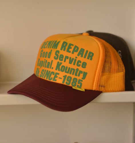 Kapital Kountry Denim Repair Trucker Hat