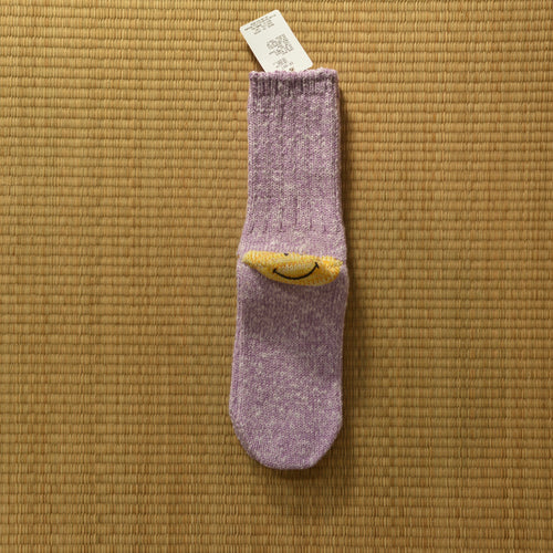 Kapital 64 Yarns Ivy Smiley Lavender Heel Hold Socks - Silverlake, Socks - Vinatge, Kapital - Designer