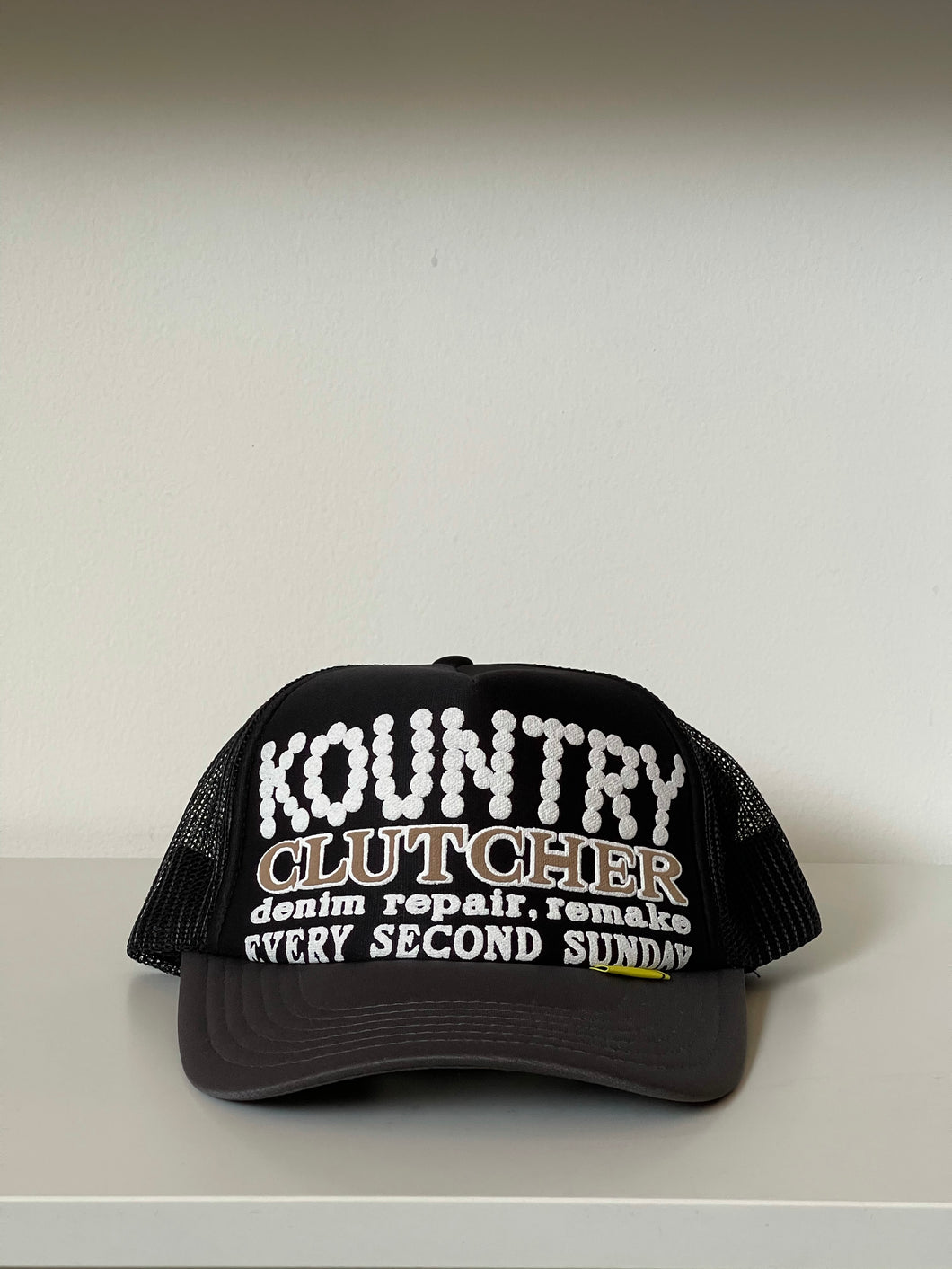 Kapital Kountry Clutcher Repair Trucker Hat Black/Grey