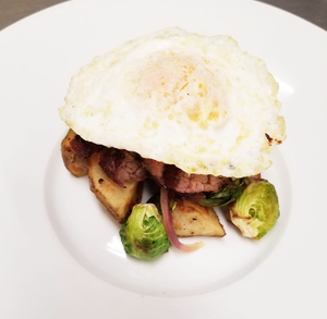 Weight Plates Las Vegas Meal Prep | Beef and Brussel Sprout Hash