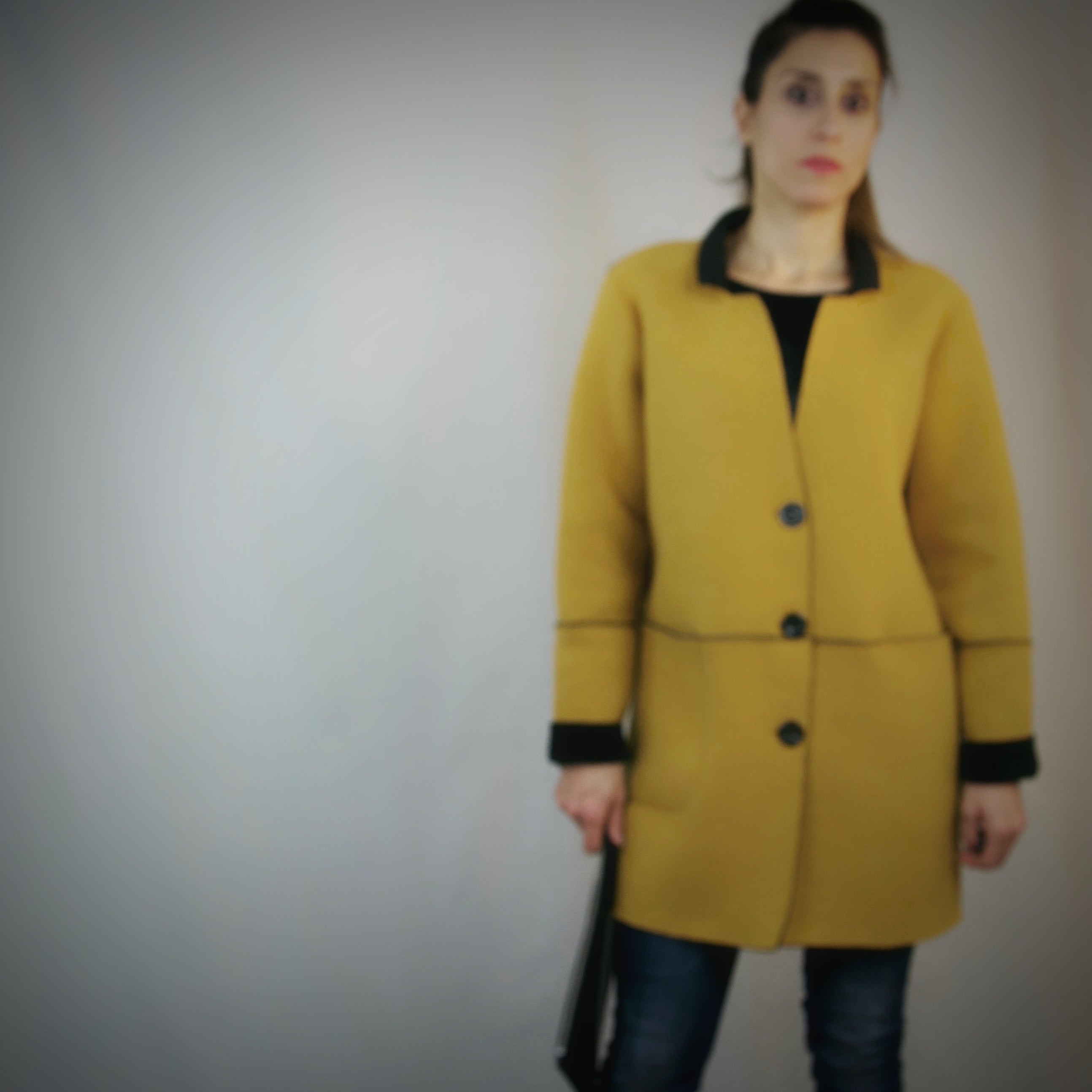 Fused Peacoat Jacket