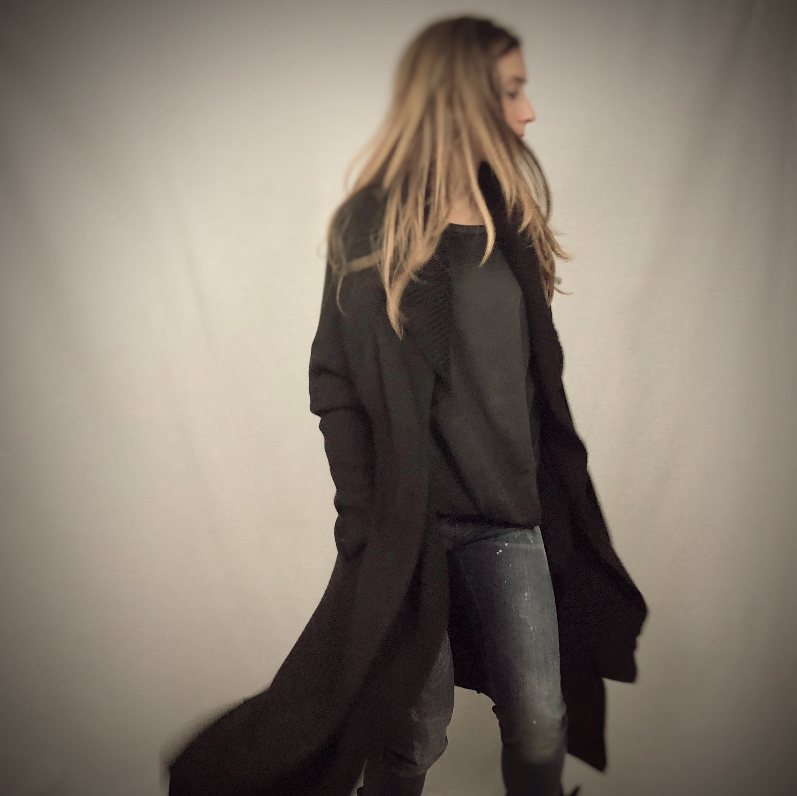 Long Draped Cardigan