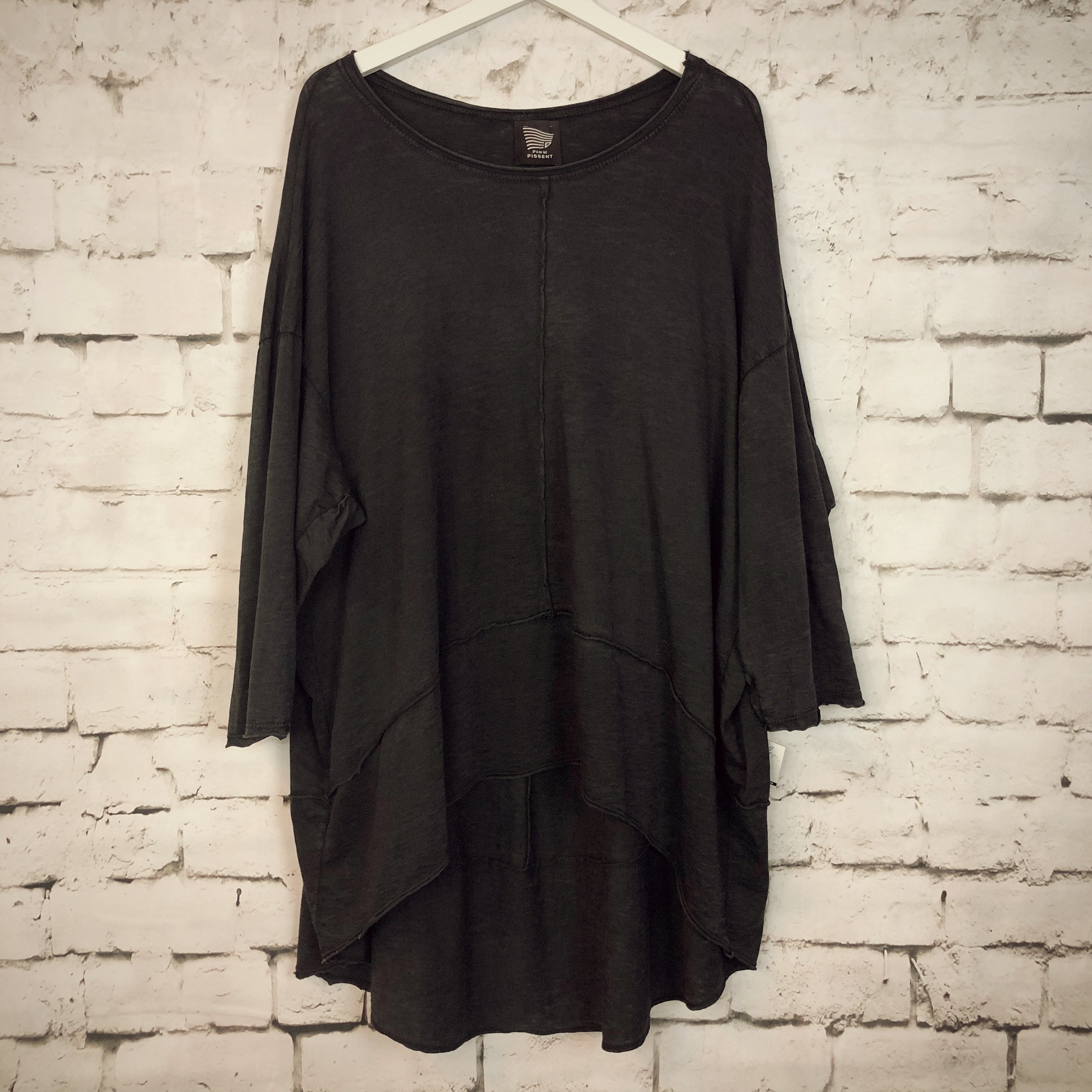 Cropped Front Vintage Tunic-Dress