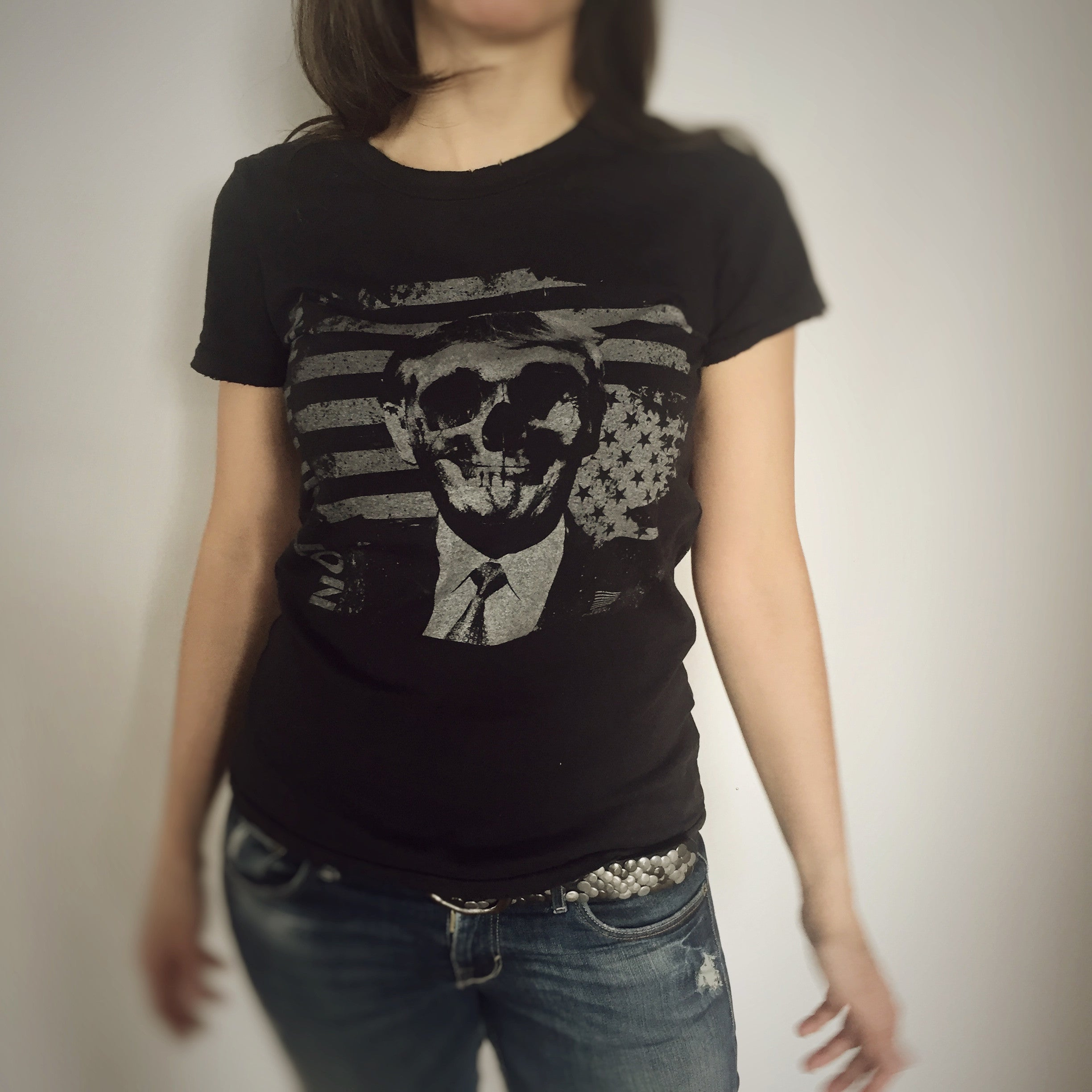 Not With Him - Skull Tee