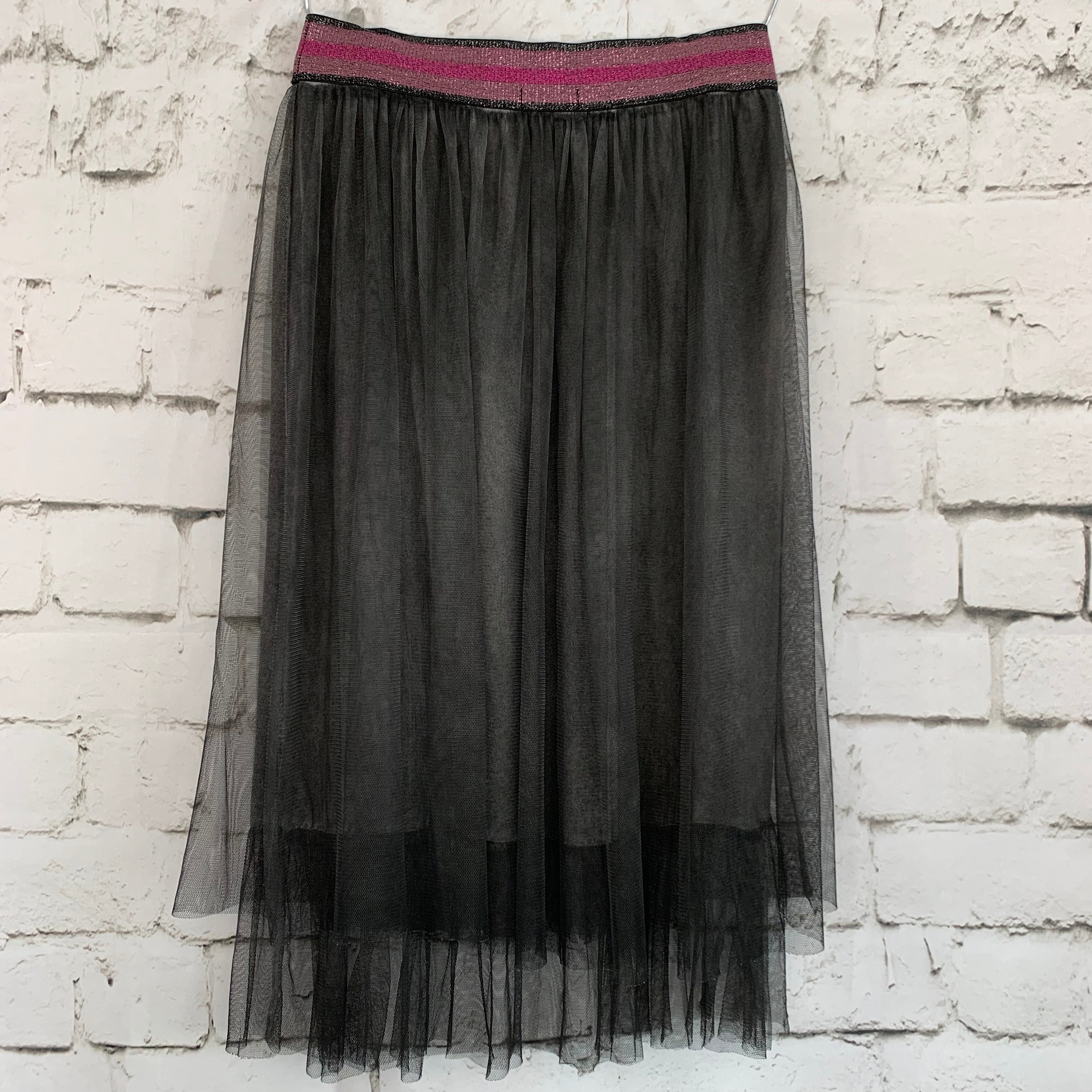 Gathered Double Layer Tulle Skirt
