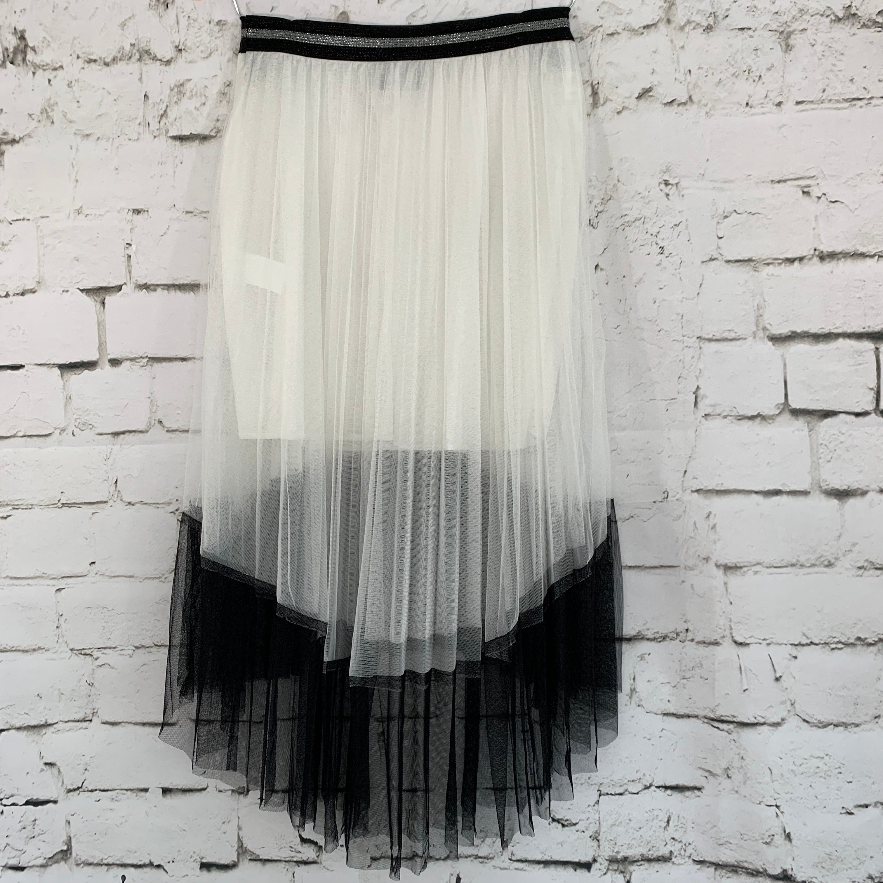 Contrast Double Tulle Skirt