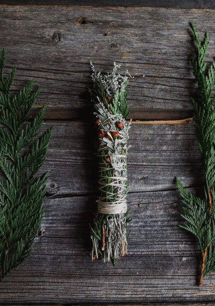 Smudge Stick - Cedar / Sage / Flower