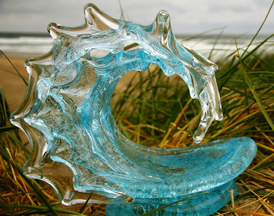 David Wight Glass Wave - Champagne