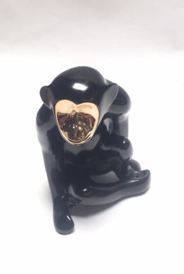 Loet Vanderveen Chimp (Black) Sculpture