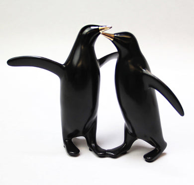 Loet Vanderveen Penguin Pair Sculpture