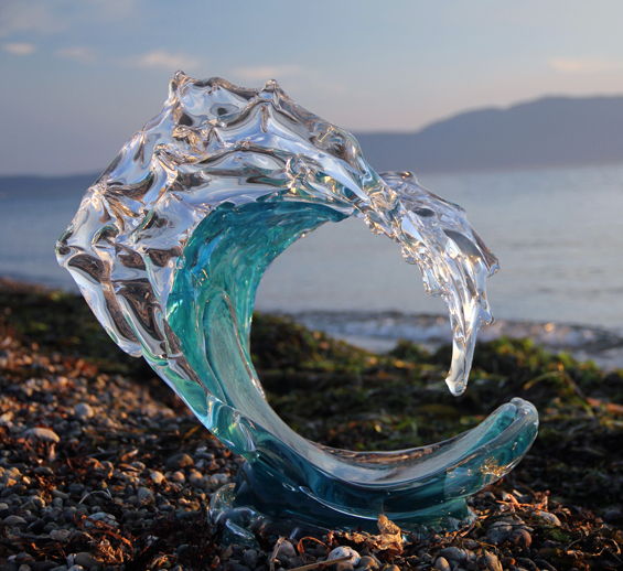 David Wight Glass Wave - Tsunami Turquoise