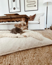 Natural Linen Dog Bed