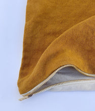 Ochre Linen Dog Bed