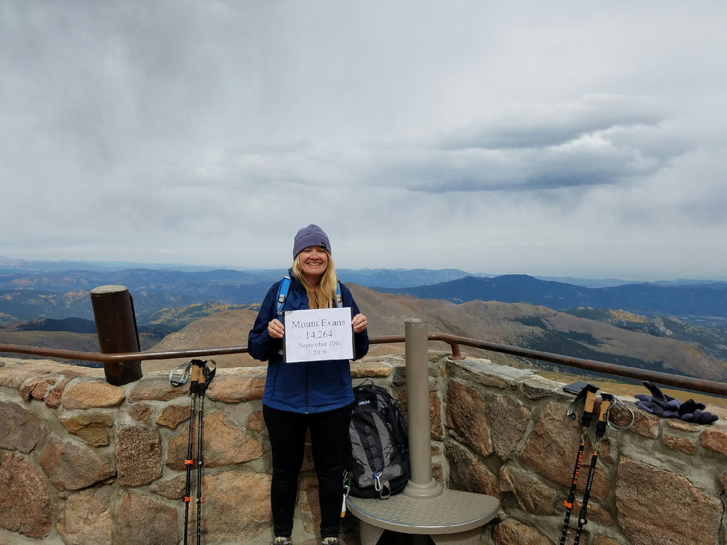 Carolyn at Mt. Evans