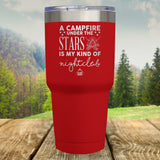 A Campfire Under The Stars Laser Etched Tumbler