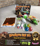 Dinosaur Toys MEGA KIT! OMG! Pre-Made Plus DIY Slime!! - Includes Volcano, 12 Jurassic Dinos, 5-Pack Dinosaur Eggs That Hatch - Non-Stick Playset with Mat Has Surprise Bonus Slime Inside!