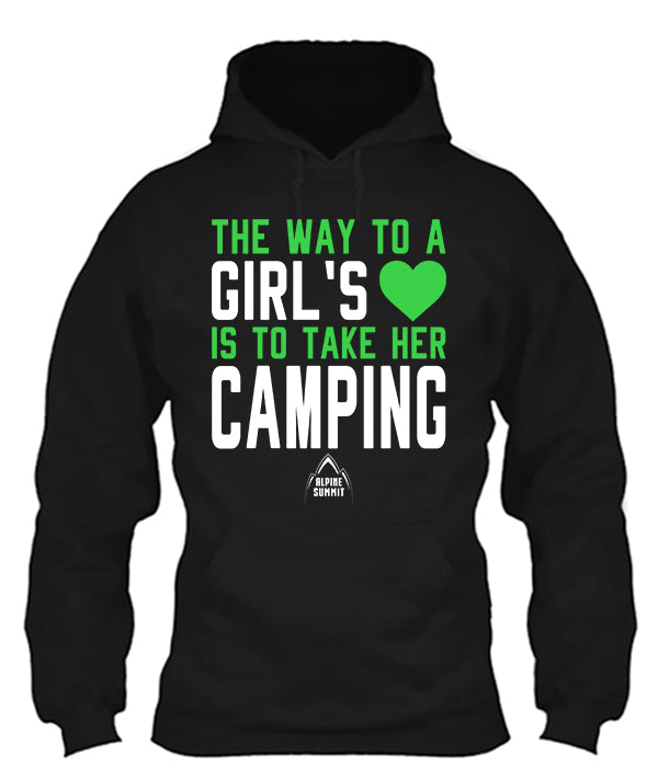 Way to a Girls Heart is Camping
