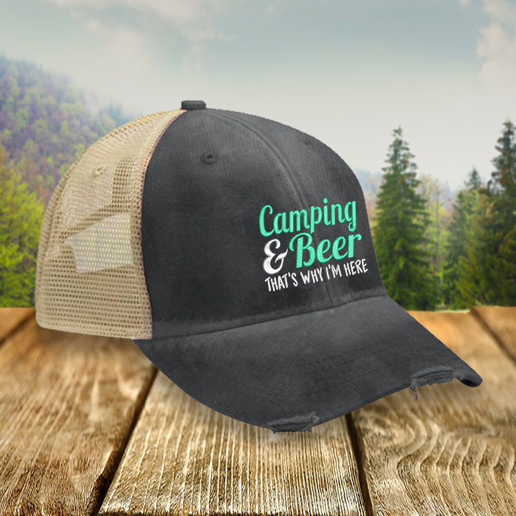 Camping and Beer Hat