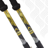 Guide Edition Carbon Fiber Trekking / Hiking Poles with Cork Grips - Yosemite Gold - Enjoy the Outdoors