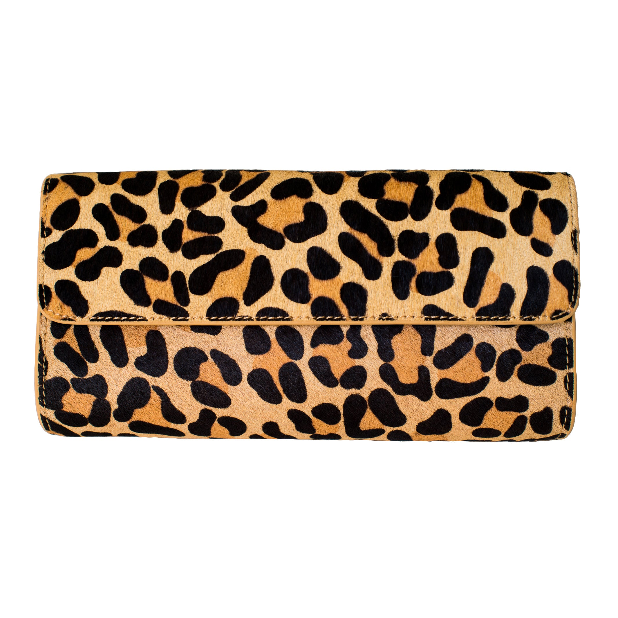 Leopard Genuine Calf Hair Clutch - Elizabeth Ackerman New York