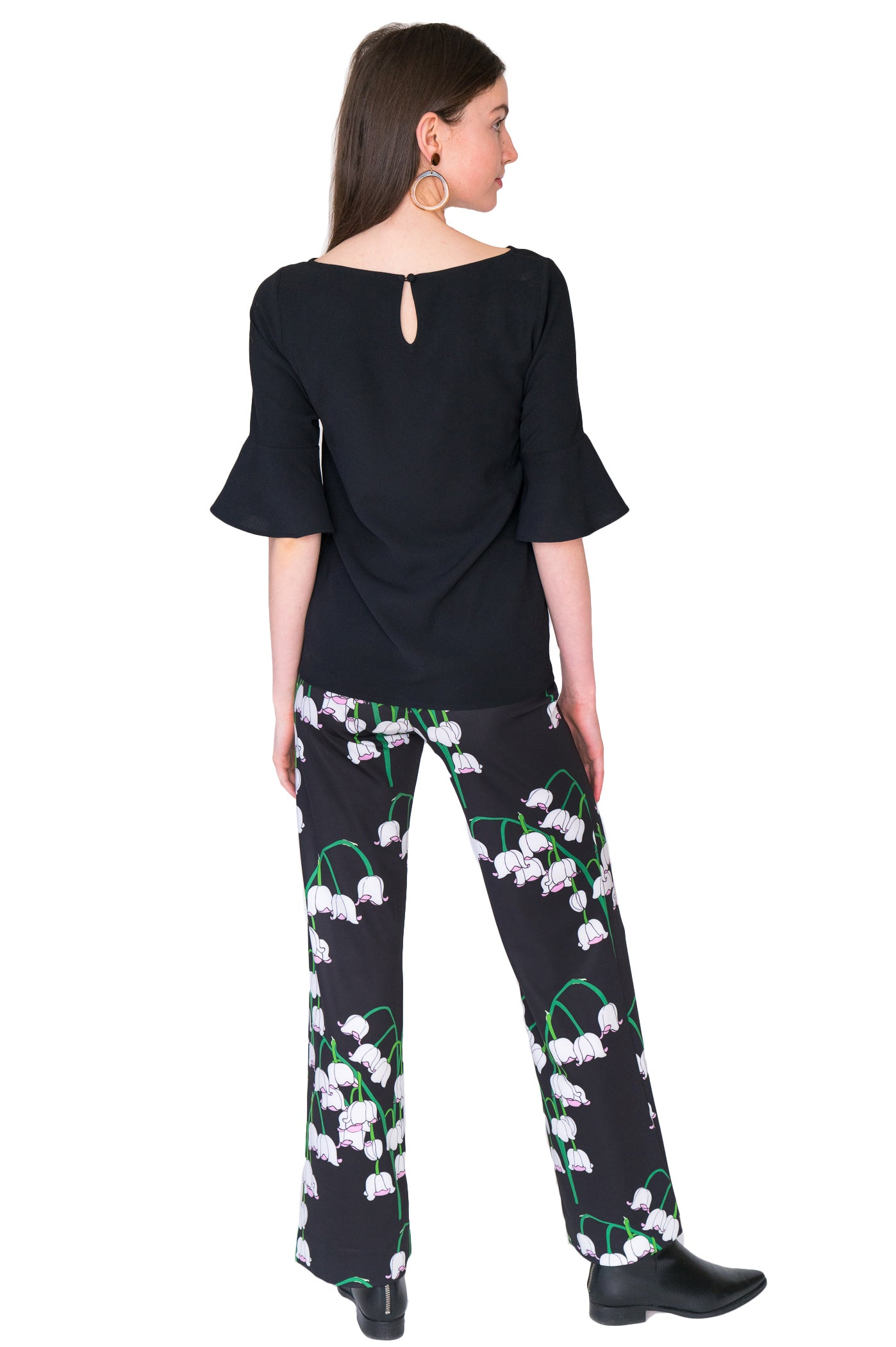 Toby Palazzo Pant in Big Lily $165 - Elizabeth Ackerman New York